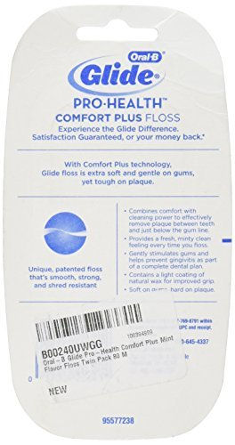 Oral-B Glide Pro-Health Comfort Plus Mint Flavor Floss, 40 M (Pack of 2)