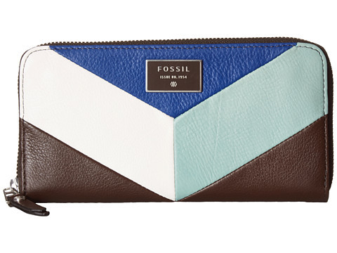 Fossil Dawson Color Block Zip Clutch