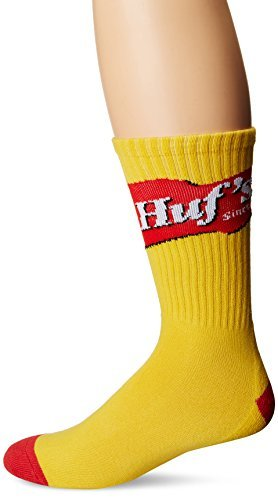 HUF Men's Mustard Crew Sock, Yellow, One Size