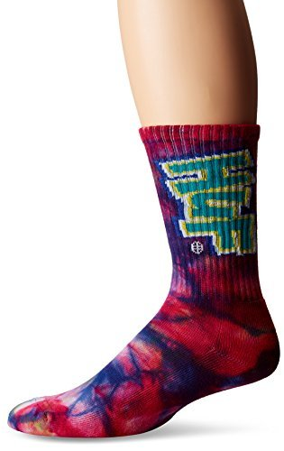 HUF Men's Hoes N Trix Crew Sock, Multi, One Size