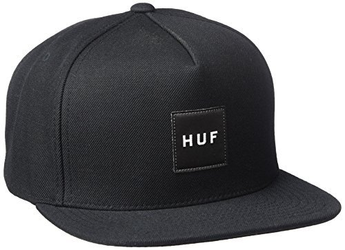 HUF Men's Box Logo Snapback, Black, One Size
