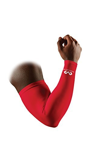 McDavid Compression Arm Sleeve, Scarlet, Small