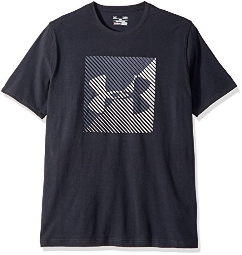 Under Armour Men's Linear Shift Short Sleeve Athletic Shirt, Small, Black/Red